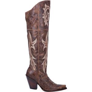 Dan Post Jilted Brown Women's Snip-toe Leather Boots