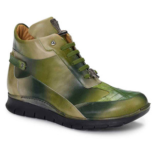 Mauri Adda Nappa Calf & Baby Croc Multi Green Men's Casual Boot
