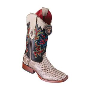 Los Altos Natural Python Square Toe Women's Western Boot
