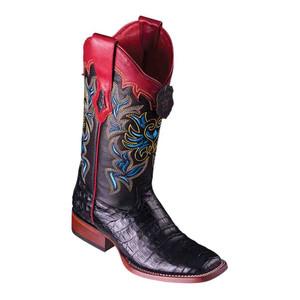 Los Altos Black Caiman Belly Square Toe Women's Western Boot