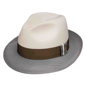 Stetson Portofino Ivory & Grey Milan Soft Finish Cowhide Sweat Band Hat