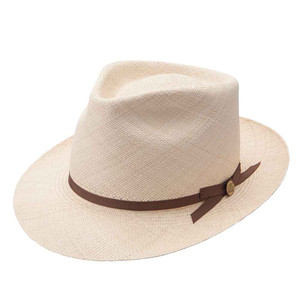 Stetson Natural Forty Eight Genuine Panama Soft Finish Sheepskin Sweat band Hat