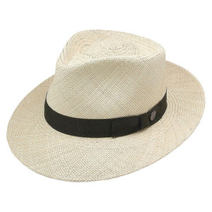 02974b841f264 Stetson Natural Retro Genuine Panama Soft Finish Cotton Sweat Band Hat