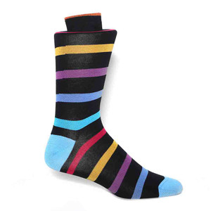 Tallia Navy Multi Tone Stripes Men's Socks