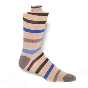 Tallia Camel Stripes Men's Socks