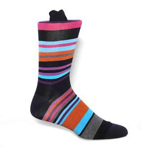 Tallia Navy Multi Tone Stripes Mens Socks