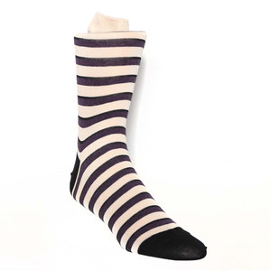 Tallia Beige Plum Stripes Men's Socks