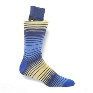 Tallia Blue & Gold Stripes Men's Socks