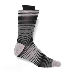 Tallia Black & Grey Stripes Men's Socks