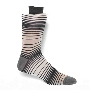 Tallia Taupe & Grey Stripes Men's Socks