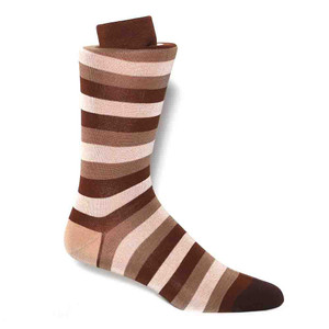 Tallia Brown Stripped Men's Socks