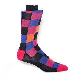Tallia Black Multi Patterned Men's Socks