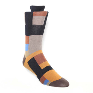 Tallia Black & Taupe Patterned Men's Socks