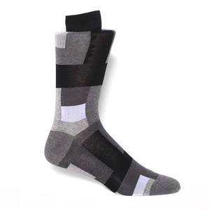 Tallia Black & White Patterned Men's Socks