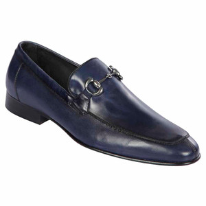 Lombardy All Leather Calf Navy Men's Slip On Shoes