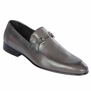 Lombardy All Leather Calf Grey Men's Slip On Shoes