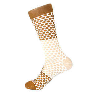 Steven Land Brown Multi Honeycomb Printed Pattern Men's Socks