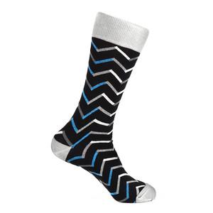 Steven Land Black Multi Chevron Mixed Colors Pattern Men's Socks