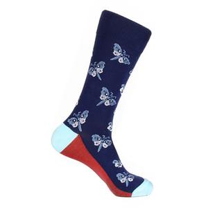 Steven Land Blue Multi Butterfly Pattern Men's Socks