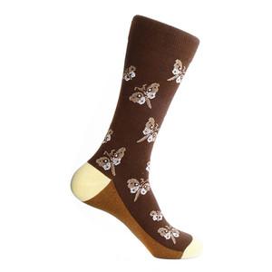Steven Land Brown Multi Butterfly Pattern Men's Socks