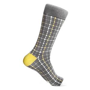 Steven Land Gray Multi Plaid Printed Patter Men's Socks