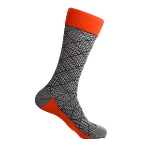 Steven Land Black Multi Classic Plaid Pattern Men's Socks