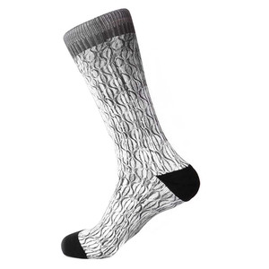 Steven Land Paisley Sublimation Pattern Black Cotton Nylon Spandax Men's Socks
