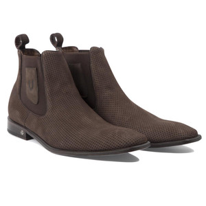 Vestigium Tobacco Suede Leather Men's Chelsea Boots