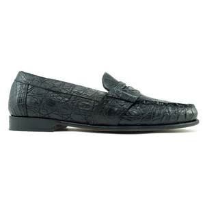 Alan Payne Franco Black Genuine Crocodile Loafers