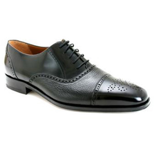 Tyson Black by Mezlan Genuine Deerskin Oxford