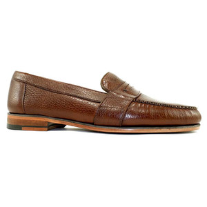 Alan Payne Wellesley Deerskin Antique Honey Penny Loafers