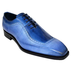 Duca Tivoli Light Blue & Ocean Blue Calfskin Men's Oxfords