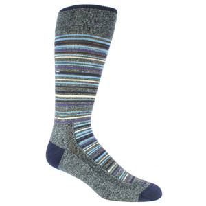 Remo Tulliani Apache Horizontal Stripes Purple & Multi Men's Socks