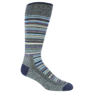 Remo Tulliani Apache Horizontal Stripes Purple & Multi Men's Socks