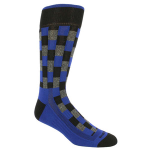 Remo Tulliani Fox Brick Pattern Blue & Multi Men's Socks