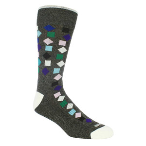 Remo Tulliani Gelding Confetti Pattern Charcoal & Multi Men's Socks