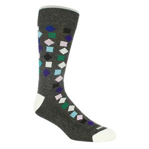 Remo Tulliani Gelding Confetti Pattern Charcoal & Multi Men's Socks