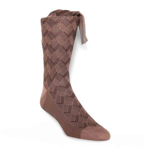 J&M Tan Stripes Pattern Men's Socks