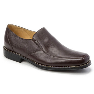 Sandro Moscoloni Renzo Brown Leather Men's Slip On Venetian Loafer