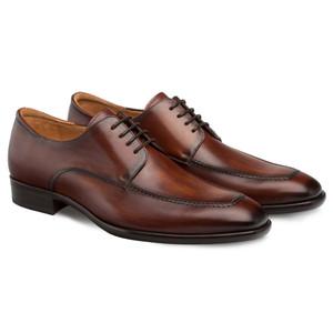 Mezlan Coventry Dark Cognac Calfskin Leather Men's Classic Apron Oxford