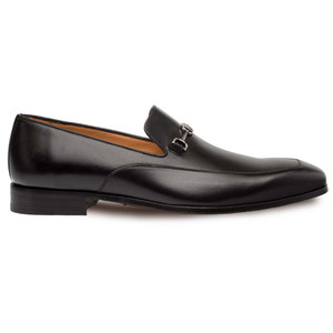 Mezlan Falcon Black Calfskin Leather Men's Classic Slip On