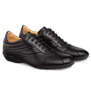 Mezlan Luka Black Deerskin & Calfskin Leather Men's Lace Up Sneakers