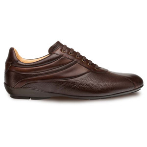 Mezlan Luka Brown Deerskin & Calfskin Leather Men's Lace Up Sneakers