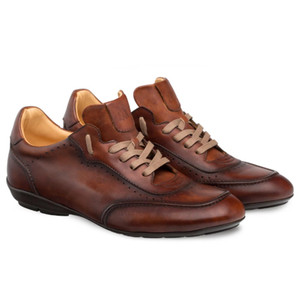 Mezlan Tivoli Cognac Calfskin Leather Men's Dress Lace Up Casual Shoes