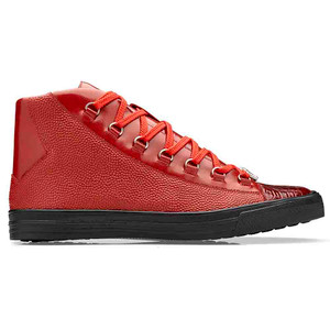 Belvedere Angelo Red Genuine Crocodile & Italian Calf Men's Sneakers