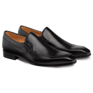 Mezlan Tula Black Calfskin Leather Men's Sophisticated & Classic Slip On