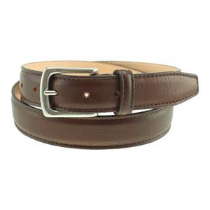 T.B. Phleps Torrence Mahogany Deerskin Leather Men's Dress Belt