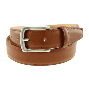T.B. Phleps Torrence Cognac Deerskin Leather Men's Dress Belt
