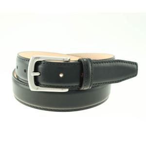 T.B. Phleps Torrence Black Deerskin Leather Men's Dress Belt