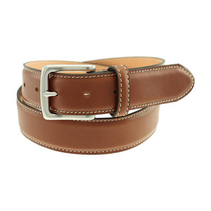 T.B. Phelps Colombia Tan Waxy Leather Men's Dress Belt